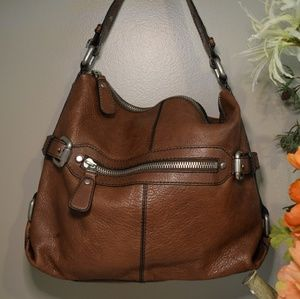ALL LEATHER Fossil Shoulder Bag